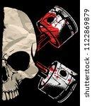 skull illustration   a mark of... | Shutterstock .eps vector #1122869879