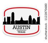 austin texas label stamp icon... | Shutterstock .eps vector #1122870680