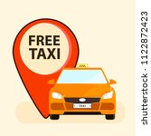 free taxi illustration with red ... | Shutterstock .eps vector #1122872423