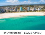an aerial view of the beach at... | Shutterstock . vector #1122872480