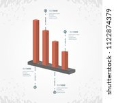 abstract infographics with bars ... | Shutterstock .eps vector #1122874379
