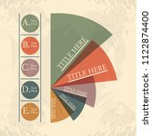 abstract infographics with... | Shutterstock .eps vector #1122874400