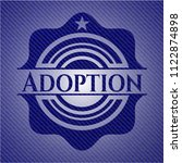 adoption badge with jean texture | Shutterstock .eps vector #1122874898