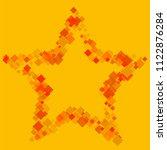 rhombus yellow minimal... | Shutterstock .eps vector #1122876284