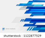 abstract technology geometric... | Shutterstock .eps vector #1122877529