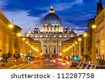 front view of saint peter's... | Shutterstock . vector #112287758