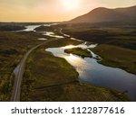 beautiful sunset view of...   Shutterstock . vector #1122877616