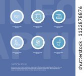 set of 6 editable cleanup icons ... | Shutterstock .eps vector #1122878876