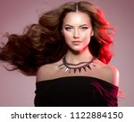 woman high fashion model with... | Shutterstock . vector #1122884150