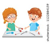 vector illustration of kids... | Shutterstock .eps vector #1122884159