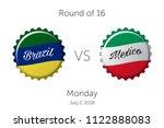 soccer championship   round of... | Shutterstock .eps vector #1122888083