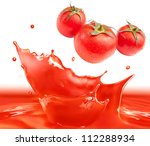 tomato sauce splash making... | Shutterstock . vector #112288934