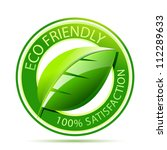 Green Eco Friendly Icon With...