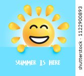 funny sun smiley with the title ... | Shutterstock .eps vector #1122900893