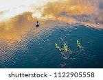 aerial top view  kayaking in...   Shutterstock . vector #1122905558