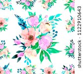 seamless background floral... | Shutterstock . vector #1122910643