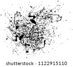 abstract black ink splash...   Shutterstock .eps vector #1122915110