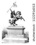 equestrian statue of william... | Shutterstock . vector #1122916013