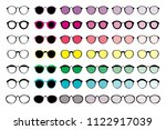 a large selection of glasses of ... | Shutterstock .eps vector #1122917039