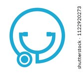 stethoscope logo. medical icon. ... | Shutterstock .eps vector #1122920273