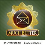shiny badge with envelope icon ... | Shutterstock .eps vector #1122935288