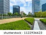 beautiful green meadow near... | Shutterstock . vector #1122936623