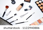 flat lay female cosmetics... | Shutterstock . vector #1122940886