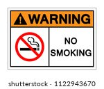 warning no smoking symbol sign... | Shutterstock .eps vector #1122943670