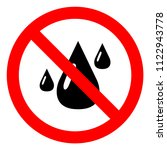 do not let water and humidity... | Shutterstock .eps vector #1122943778