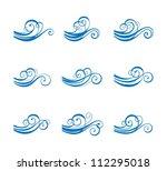 wave vector element. raster... | Shutterstock . vector #112295018