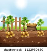 set of potato crops illustration | Shutterstock .eps vector #1122950630