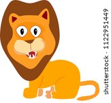 lion cub looking surprised... | Shutterstock .eps vector #1122951449