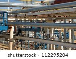 pipework at a petrochemical... | Shutterstock . vector #112295204