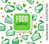 food patterns   tart no...   Shutterstock .eps vector #1122952760