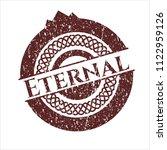 red eternal distress rubber... | Shutterstock .eps vector #1122959126