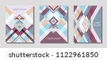 set of cover page layouts ... | Shutterstock .eps vector #1122961850