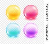 bright transparent sphere set.... | Shutterstock .eps vector #1122965159