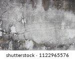grainy rough concrete wall... | Shutterstock . vector #1122965576