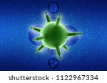 3d rendering viruses in... | Shutterstock . vector #1122967334