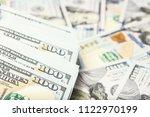 business dollar money on white... | Shutterstock . vector #1122970199