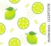 lime fruit seamless pattern on... | Shutterstock .eps vector #1122972578