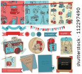 scrapbook design elements  ... | Shutterstock .eps vector #112297490