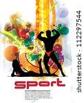 sport poster | Shutterstock .eps vector #112297544