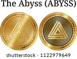 set of physical golden coin the ...   Shutterstock .eps vector #1122979649