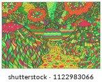 doodle surreal landscape....   Shutterstock .eps vector #1122983066