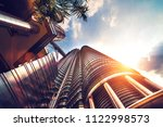 bottom view of a modern... | Shutterstock . vector #1122998573