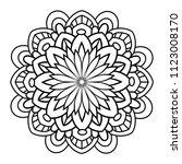 flower mandala vector... | Shutterstock .eps vector #1123008170