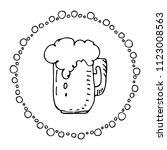 hand drawn beer mug isolated on ... | Shutterstock .eps vector #1123008563