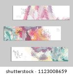 abstract cover template with... | Shutterstock .eps vector #1123008659