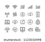 editable simple line stroke... | Shutterstock .eps vector #1123010498